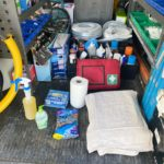 Van stocked up with the cleaning equipment to keep you safe from Covid-19