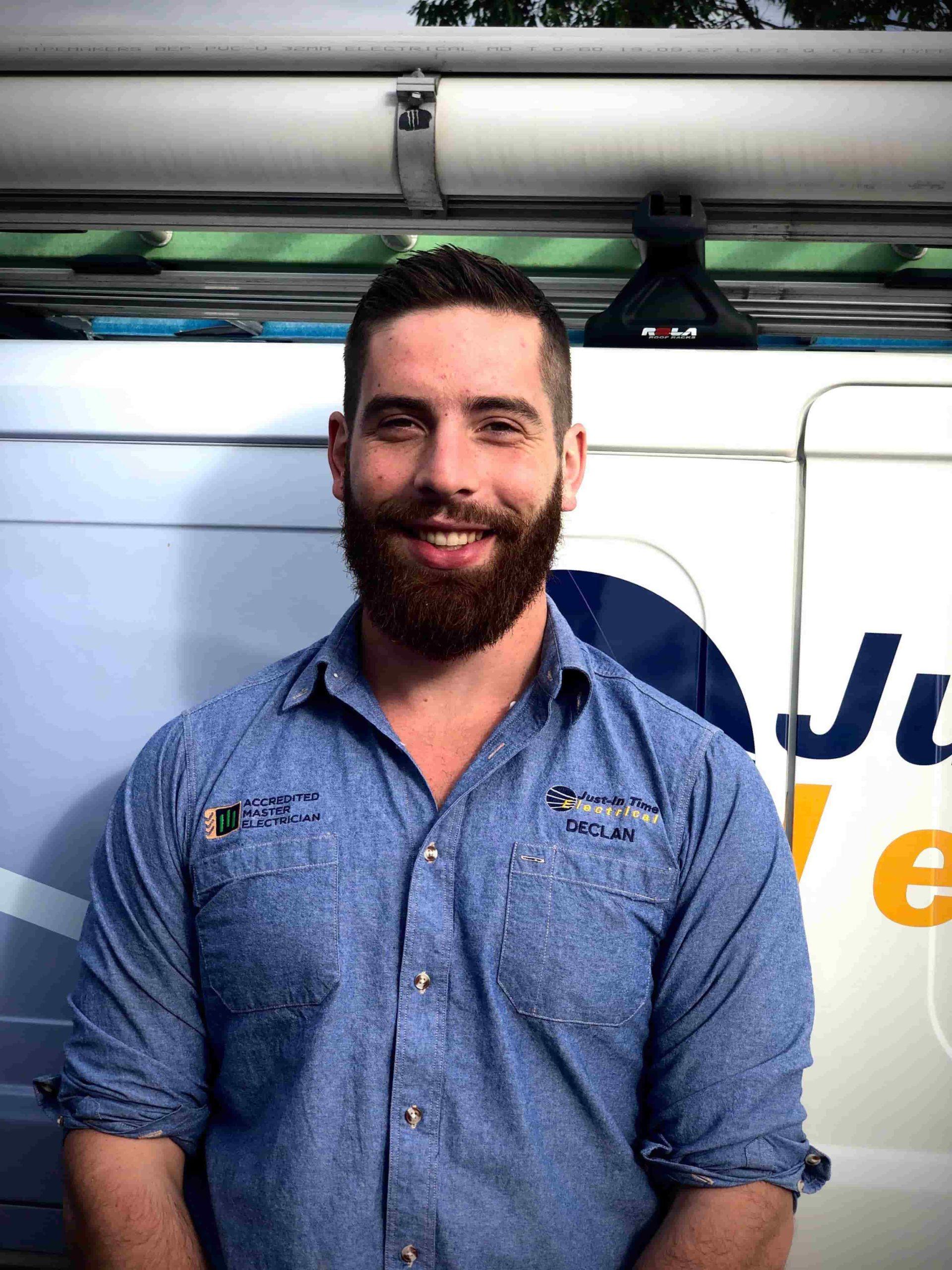 Declan Wreford electrical apprentice
